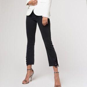 JBrand Selena Mid-Rise crop bootcut Jeans
